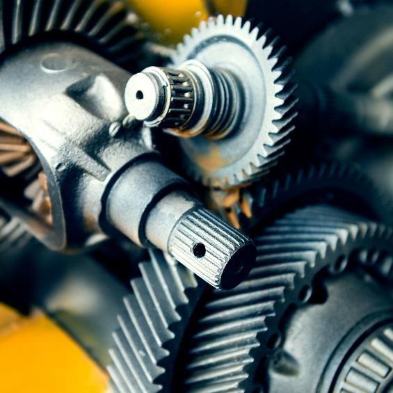 Afbeelding van tandwielen in motor.